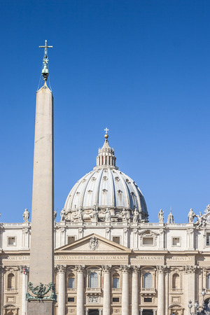 st  peter's basilica pope: Egyptian Obelisk at the  St. Peter