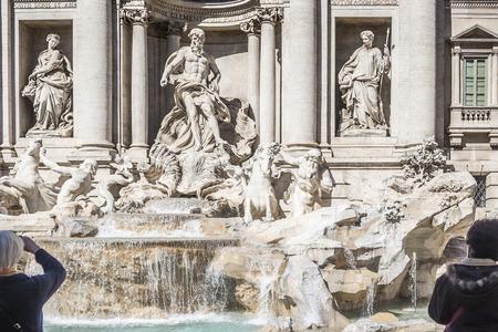 Trevi Fountain Trevi district in Rome, Ital