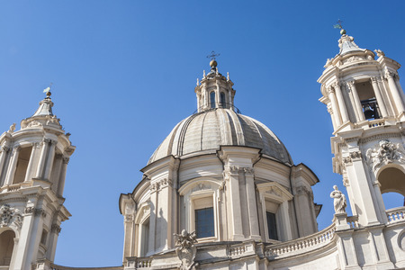 st  peter's basilica pope: SantAgnese in Agone church, Piazza Navona, Rome, Italy Editorial