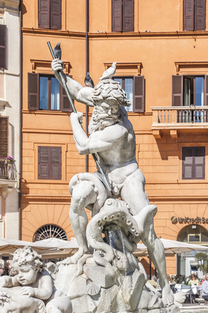 Piazza Navona Fountain, Rome, Italy