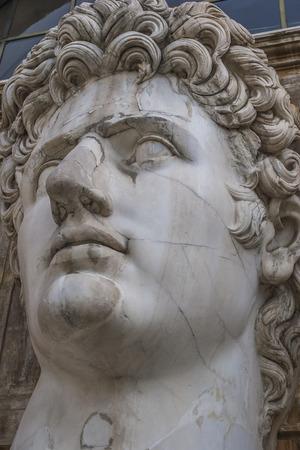 st  peter's basilica pope: Augustus Caesar sculpture, Vatican Museum , Vatican, Rome, Italy.