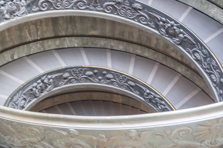 st  peter's basilica pope: Spiral Staircase at the Vatican Museum, Vatican, Rome, Italy.