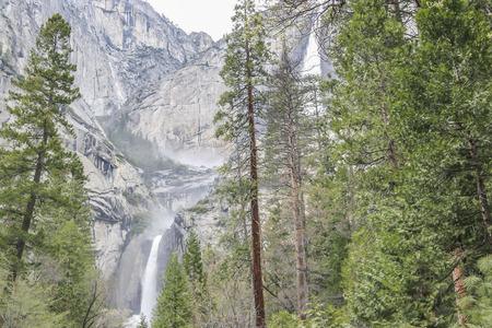 rockslide: Yosemite falls, Yosemite National Park, CA. USA.