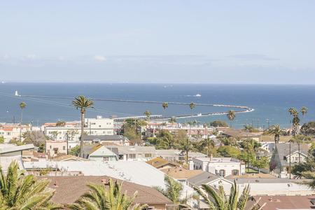 san pedro: Ocean view, San Pedro California, USA.