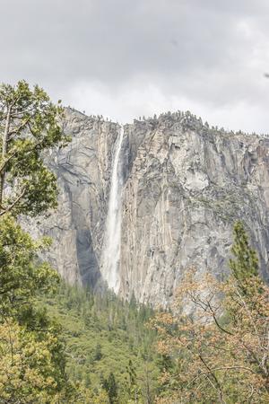 rockslide: Horsetail Fall, Yosemite National Park, CA. USA