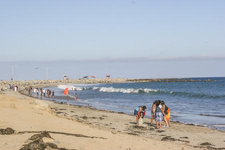 san pedro: People having fun at Cabrillo beach, San Pedro, CA. USA. Editorial