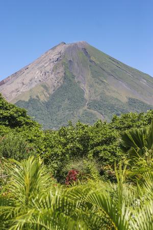 vulcano: Concepcion Vulcano view from Green Lagoon Beach, Ometepe Island, Rivas, Nicaragua