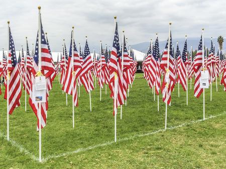valor: Veterans  Field of Valor at  Sierra Vista Middle School,  Covina, CA.USA