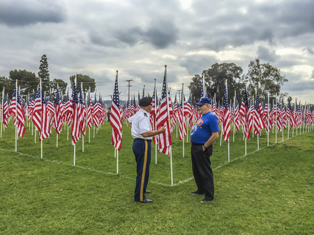 valor: the third annual   Field of Valor at Sierra Vista Middle School,  Covina, CA.USA Editorial