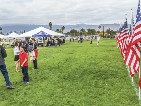 Third annual   Field of Valor, Veterans day celebration at  Sierra Vista Middle School,  Covina, CA.USA Editorial