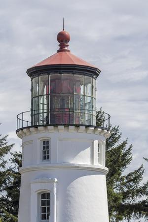 river county: Umpqua River Lighthouse ,tourist atraction,Douglas County,Oregon.USA