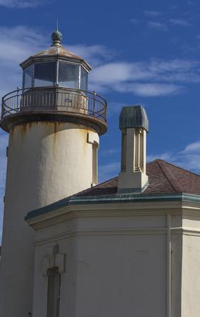 coquille: Coquille River Lighthouse,tourist atraction,Ballard Beach State Park,Oregon.USA.