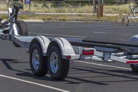 Boat Trailer parking, Newport,Oregon,USA. Redakční