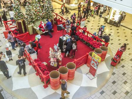 saint nick: Santas Picture taking at the mall, Westcovina, CA. USA