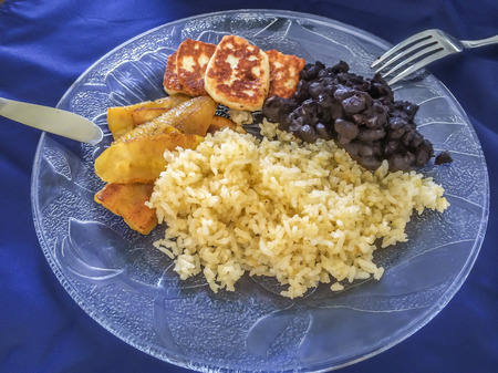 nicaraguan: Rice and beans, Fried banana, fried cheese, popular Nicaraguan food