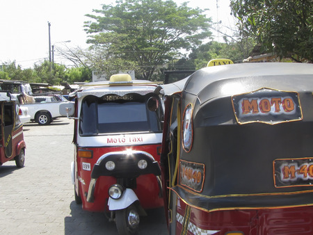 Moto taxi popular transportation ciudad Sandino Managua Nicaragua