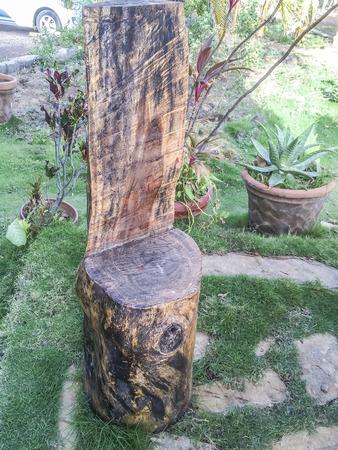 woodwork: Backyard chair, woodwork, ornament, Villa del Carmen, Managua, Nicaragua.
