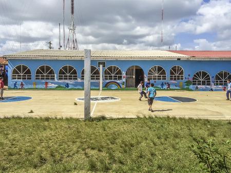 sirvientes: Ni�os que juegan en las Siervas Orphanatory del rostro divino, municipio de El Crucero, Managua