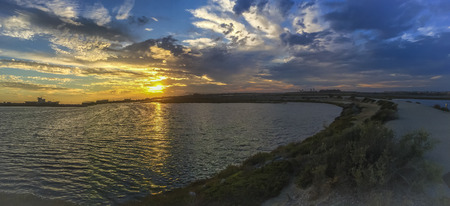 Sunset Bolsa Chica ecological reserve,  natural reserve in the city of Huntington Beach, California, United States