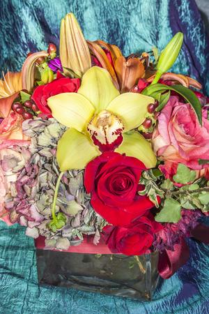 mixed flower bouquet: Beautiful Flower bouquet, flowers, florist design Stock Photo