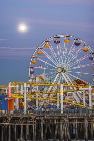 santa monica: Santa Monica pier Pacific Wheel, Santa Monica,CA. USA,