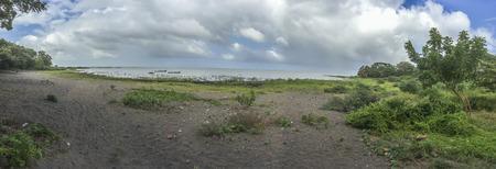 flor: Nicaraguan lake panoramic view, La Flor, Ometepe Island, Rivas, Nicaragua. Stock Photo