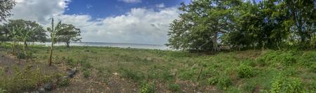 nicaraguan: Nicaraguan lake panoramic view, La Flor, Ometepe Island, Rivas, Nicaragua. Stock Photo