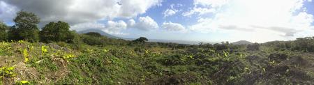 nicaraguan: Nicaraguan lake and Madera Volcano, panoramic view,  Ometepe Island, Rivas, Nicaragua.