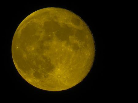 ca: Full moon over  Westcovina, CA. USA Stock Photo
