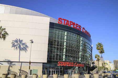 Staple Center sport and entertainment home of teh Clippers and Lakers team. Editorial