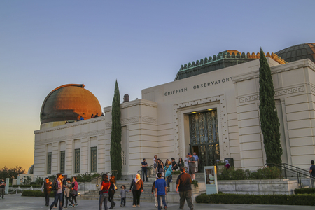 griffith: Tourist and visitors at the Griffith Observatory, Los Angeles, CA. USA.