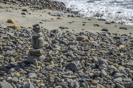 san pedro: Zen rocks at Cabrillo Beach, San Pedro, CA. USA