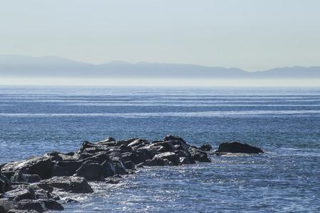 san pedro: Seascape at Cabrillo Beach, San Pedro, CA. USA