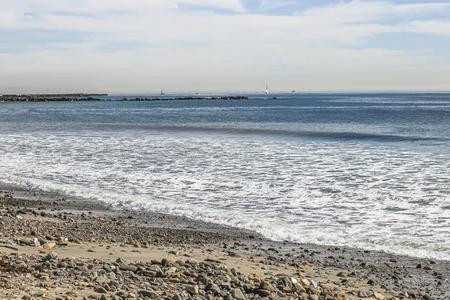 san pedro: Serene calm day at Cabrillo Beach, San Pedro, CA. USA