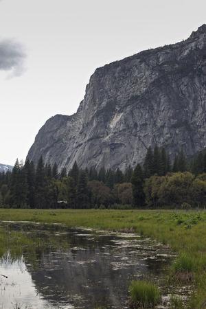 valley view: Yosemite valley view at Yosemite National Park, CA. USA.