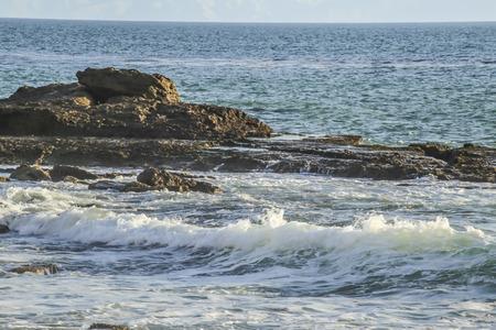 ca: Splashing waves at White point beach, San Pedro CA. USA.