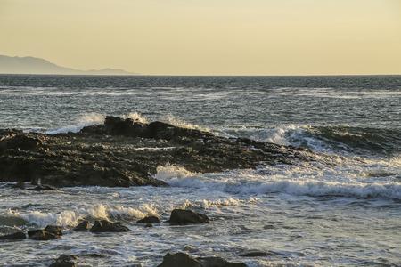 ca: Calm pacific ocean at White Point beach, San Pedro, CA. USA.