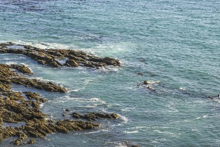 ca: Blue ocean waters at White Point Beach, San Pedro, CA. USA.
