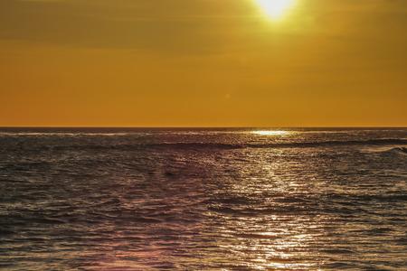 san pedro: Sunset at White point beach, San Pedro, CA. USA