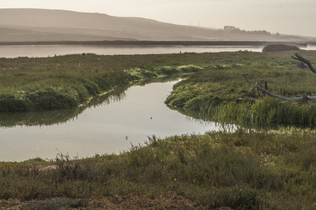 watershed: Dawn at the Saint Ynez river watershed, Lompoc, CA. USA.