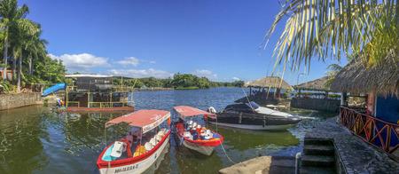 Tourist boats at Granada's islands, Granada, Nicaragua. Redakční