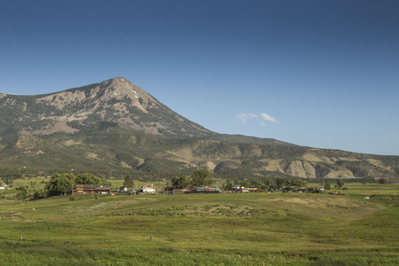 Mount Lamborn panoramic view, Paonia, Colorado,United States of America Stock Photo