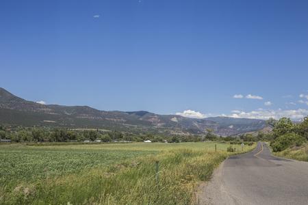 Highway 132 Panoramic view, Paonia, Colrado, USA.