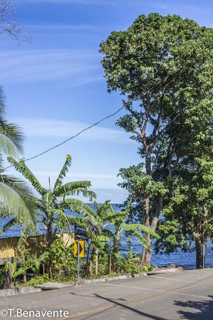 Balgue paved road, Ometepe Island, Rivas, Nicaragua.