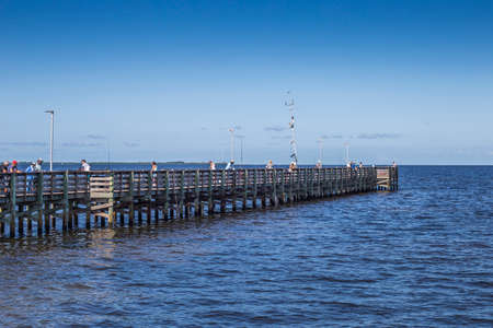 Aclote pier hobby leisure and panoramic view of the Gulf of Mexico, Holiday Fl.