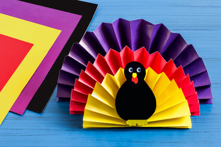 Making Souvenir For Thanksgiving Turkey Made Of Paper Original