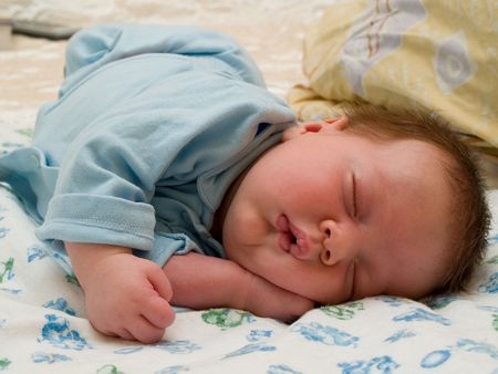sleeping two month baby