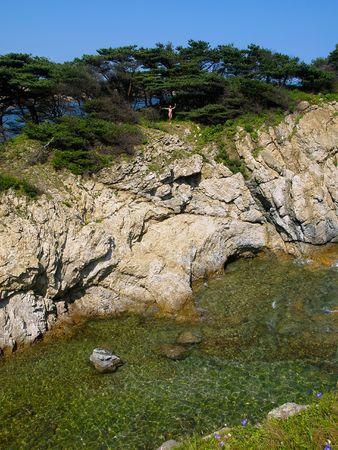seaside rock photo