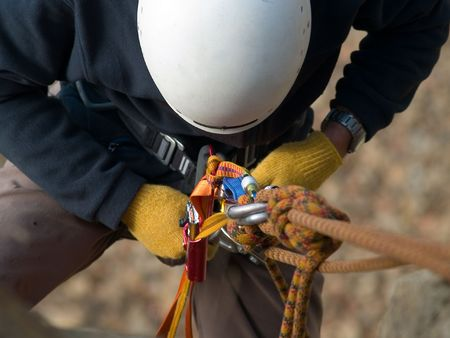 climbing equipment close-up