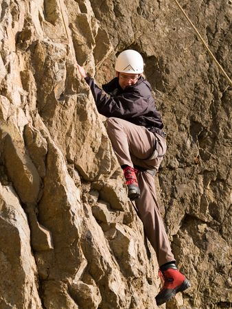 climber swarming up Stock Photo - 2514799